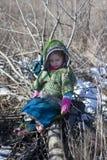 Petite fille dans l'image de Cendrillon image stock