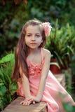 Petite fille dans la robe Image libre de droits
