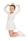 Petite fille dans la robe de boule blanche Photos libres de droits