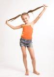 Petite fille dans la robe occasionnelle Photographie stock libre de droits