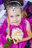 Petite fille dans la robe orientale Image stock