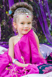 Petite fille dans la robe orientale Photo stock