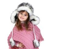 Petite fille dans le chapeau chaud photo libre de droits