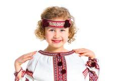 Petite fille dans le costume national ukrainien Image libre de droits