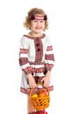 Petite fille dans le costume national ukrainien Photos stock