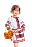 Petite fille dans le costume national ukrainien Photo stock