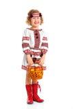 Petite fille dans le costume national ukrainien Photographie stock libre de droits