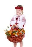 Petite fille dans le costume ukrainien national Images stock