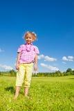 Petite fille dans le domaine Images stock