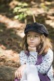 Petite fille dans le forrest Images libres de droits