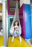 Petite fille dans le jardin d'enfants Image libre de droits
