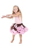 Petite fille dans le studio images stock