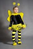 Petite fille dans le studio Images libres de droits