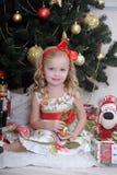 Petite fille dans Noël Photo libre de droits