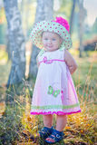 Petite fille dans un chapeau Photos stock