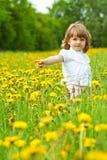 Petite fille dans un pré Photographie stock libre de droits