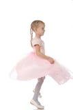Petite fille dans une robe élégante rose Photos stock