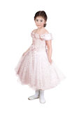Petite fille dans une robe rose images stock