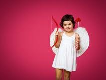 Petite fille de cupidon Photos libres de droits