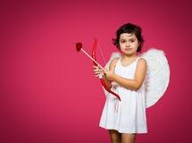 Petite fille de cupidon Photo libre de droits