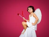 Petite fille de cupidon Images libres de droits
