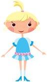 Petite fille de dessin animé Images libres de droits