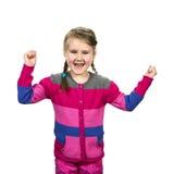 Petite fille de Joyfull Photographie stock