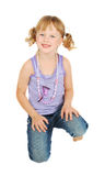 Petite fille de pays. Photo stock