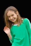 Petite fille de sourire image stock