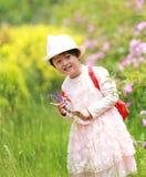 Petite fille de sourire Photo stock