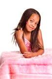 Petite fille de sourire avec des tresses Photographie stock libre de droits
