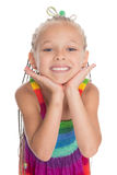 Petite fille de sourire heureuse Images stock