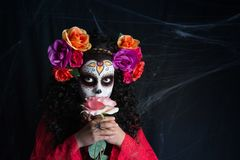 Petite fille de Sugar Skull Photo stock