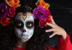 Petite fille de Sugar Skull photos libres de droits