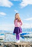 Petite fille dehors Photo libre de droits