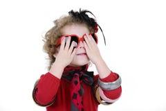 Petite fille drôle Photo stock
