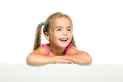 Petite fille drôle photographie stock libre de droits