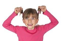 Petite fille drôle avec l'espace de dent Photo stock