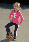 Petite fille dure Image libre de droits