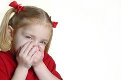 Petite fille effectuant à visages II 3 image stock