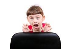 Petite fille effrayée images libres de droits