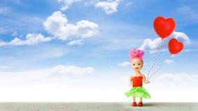 Petite fille en été de l'amour Photo stock
