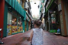 Petite fille en Corée Image stock
