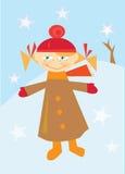 Petite fille en hiver Photos libres de droits