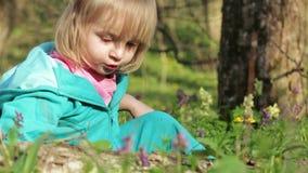 Petite fille en nature clips vidéos