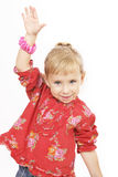 Petite fille en rouge Image stock
