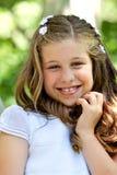 Petite fille en son premier jour de communion Photos libres de droits