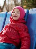 Petite fille en stationnement Photographie stock