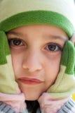 Petite fille en temps froid Images libres de droits