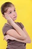 Petite fille ennuyée Image stock
